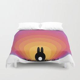 Bunny Rabbit Sunrise Duvet Cover