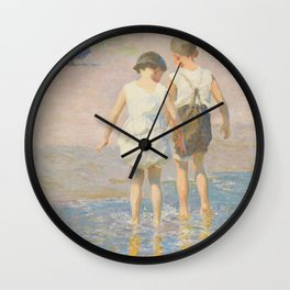 Edward Henry Potthast - Brother And Sister Wall Clock