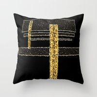 metal Throw Pillows featuring Metal by Maria Julia Bastias