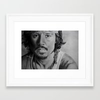 johnny depp Framed Art Prints featuring Johnny Depp by Brooke Shane