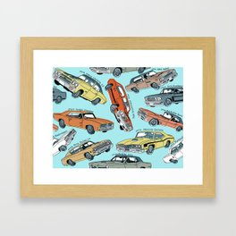 Muscle Cars Framed Art Print