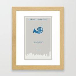 How I Met Your Mother - Blue French Horn Framed Art Print