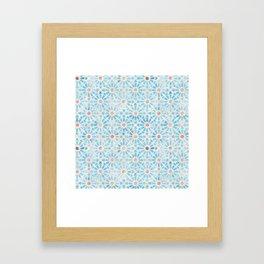 Hara Tiles Light Blue Framed Art Print