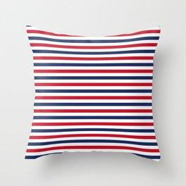Navy Stripes Throw Pillow