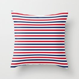 Navy Stripes Throw Pillow