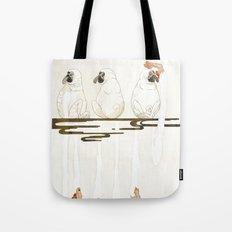 3 proboscis monkeys | Senjiro Nakata Tote Bag