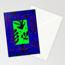 MATISSE PATTERN N BLU AND UFO GREEN Stationery Cards