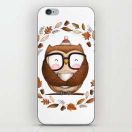 Fall Ready Owl- Illustration iPhone Skin