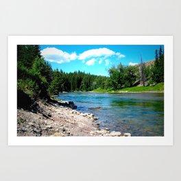 Highwood River Art Print
