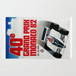 Gran Prix de Monaco, 1982, original vintage poster Rug