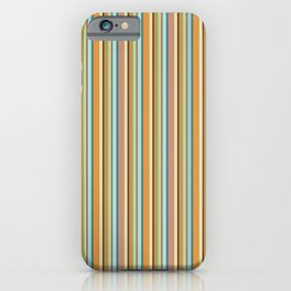 vertical lines an strips in ochre and autum colors iPhone Case
