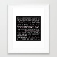 jfk Framed Art Prints featuring JFK  by Steph Snyder