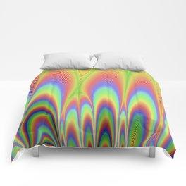 Fractal Rainbows Comforters