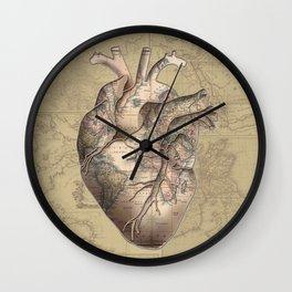 adventure heart-world map 3 Wall Clock