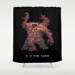 X is for Xorn Shower Curtain