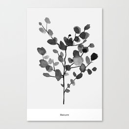 Watercolor Leaves Canvas Print