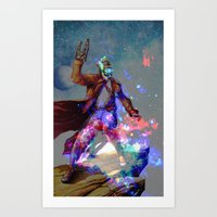 star lord Art Prints featuring Star-lord by KP Designs