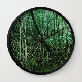 Mangroves in Green Wall Clock