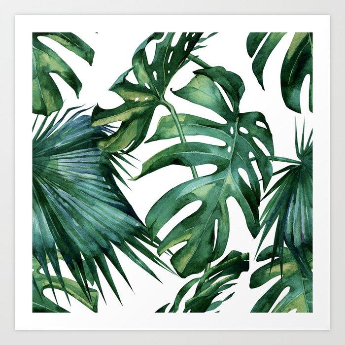Simply Island Palm Leaves Art Print By Followmeinstead