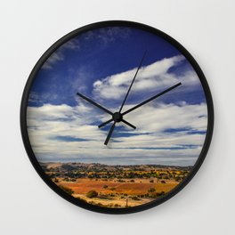 Evolved Skies, A colorful series of Landscapes Wall Clock
