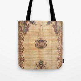 Tabriz  Antique North West Persian Silk Prayer Rug Tote Bag