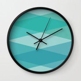 Green diamonds Wall Clock