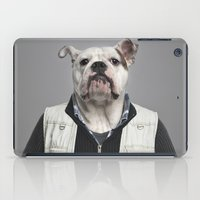 english bulldog iPad Cases featuring English Bulldog Worker by Life on White Creative