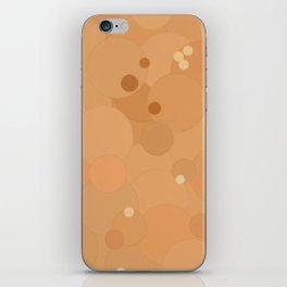 Peach Cobbler Bubble Dot Color Accent iPhone Skin