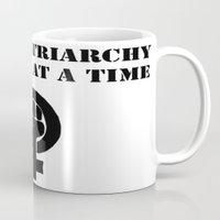 patriarchy Mugs featuring Smash Patriarchy  by Faloulah