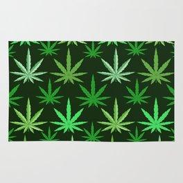 Marijuana Green Leaves Weed Rug