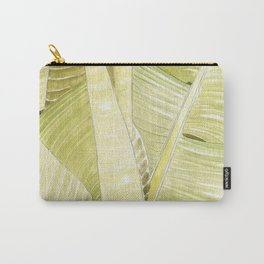 Banana Leaves Watercolor Carry-All Pouch