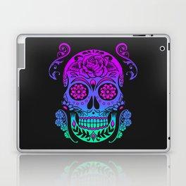 Sugar Skull Neon Flower Laptop & iPad Skin
