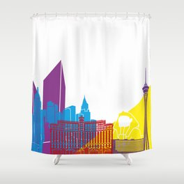 Las Vegas Skyline Pop Shower Curtain