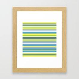 Beach Style Stripes Framed Art Print