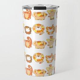 Silly Safari Pattern Travel Mug
