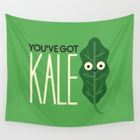vegetarian Wall Tapestries featuring That's a Releaf by David Olenick