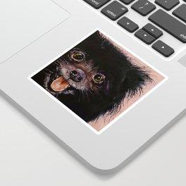Black Pomeranian Sticker