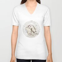 philosophy V-neck T-shirts featuring Philosophy Skuhl by clogtwo
