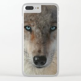 Inner Wolf Pack Clear iPhone Case