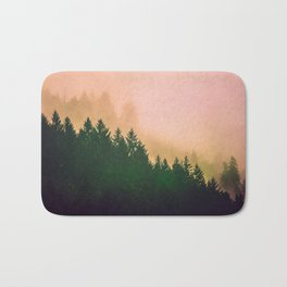 Cascadia Green Trees and Sunset Bath Mat