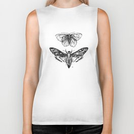 Geometric Moths Biker Tank