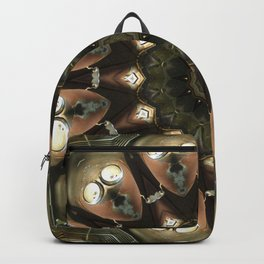 Rusty Alien Head Mandala Backpack