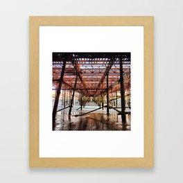 Under the Pier Framed Art Print