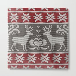 Ugly knitted Sweater Metal Print