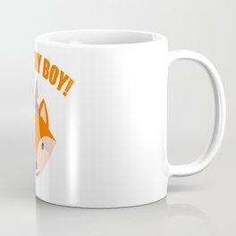 Fox Boy Birthday Kids Children Party Celebration nature gift idea Coffee Mug