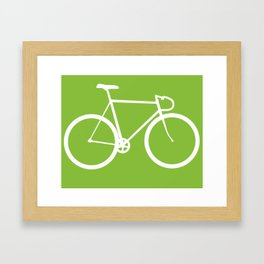 Fixed gear bike Framed Art Print