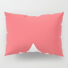 Coral Pink Pillow Sham