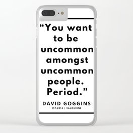 63  | David Goggins Quotes | 190901 Clear iPhone Case