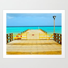 Paradise Pier Art Print