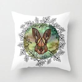 Woodland Hare Throw Pillow
